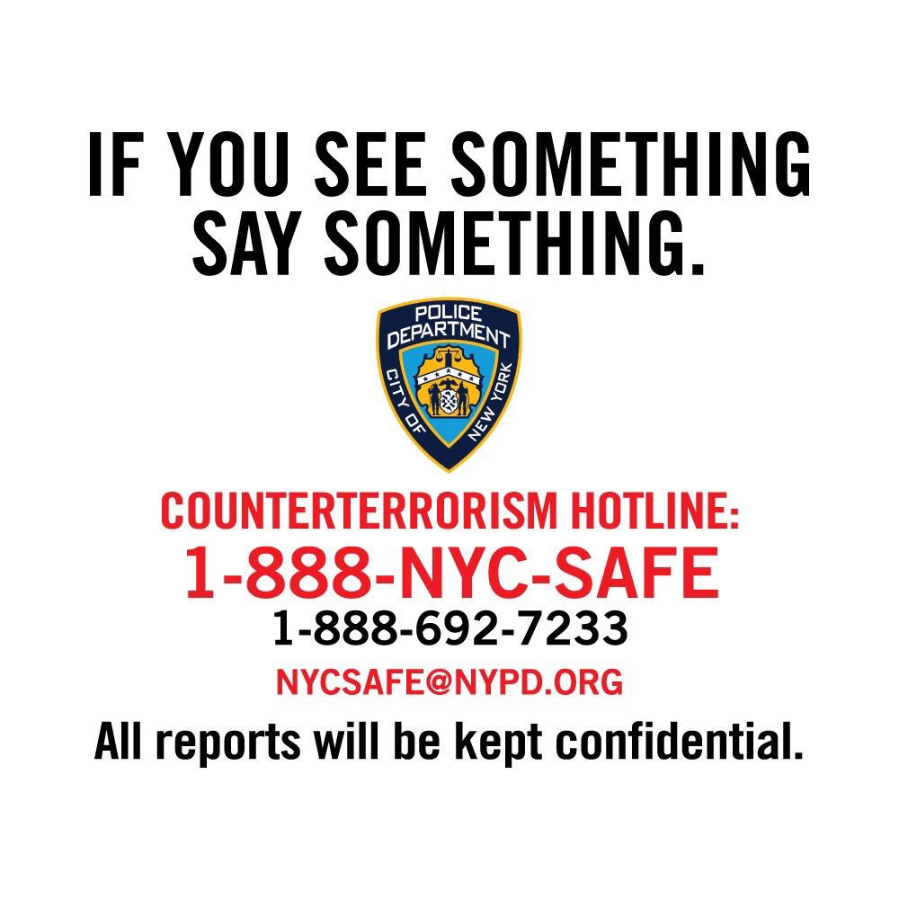 We are always out there, protecting and serving to keep everyone in our city safe. Please remember that keeping our city safe is a shared responsibility.  If you see something, say something. Call 911 to report a suspicious package or person.