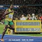 Image for the Tweet beginning: 10 years since Usain Bolt's