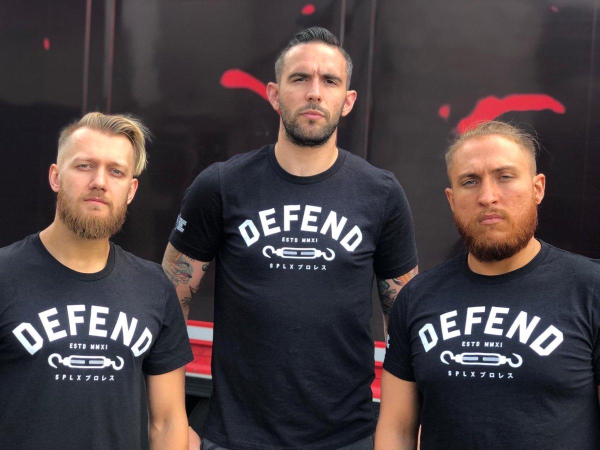 BACK IN STOCK!! 🚀🔥 DEFEND x SPLX Collab T-Shirt...Link: https://bit.ly/2YkLklX#TeamSPLX #DefendIndyWrestling #SPLX #プロレス