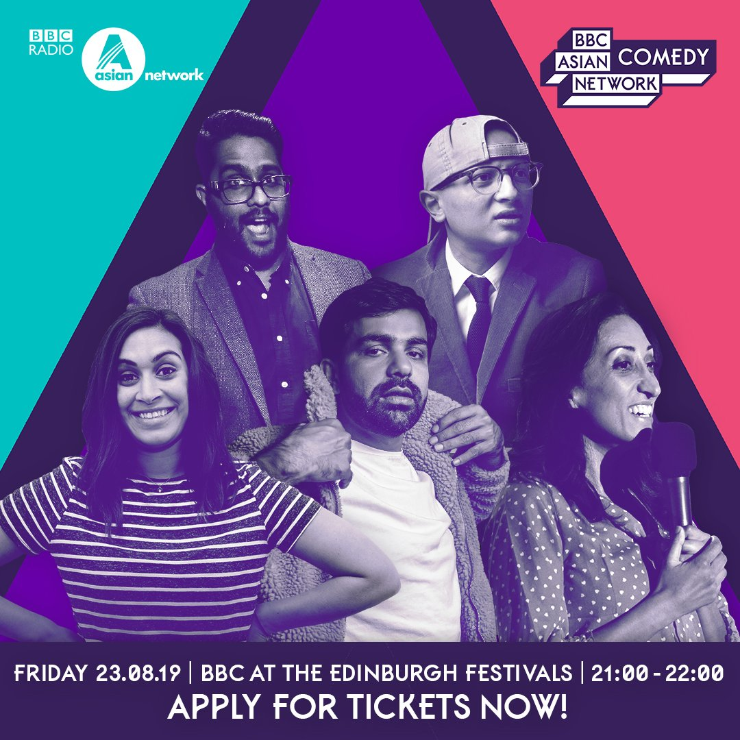 ❤️comedy? Can be in Edinburgh Friday 23rd August? 👀: 🎤 @arnabacus 🎤 @emilylloydsaini 🎤 @eshaanakbar 🎤 @shaziamirza1 🎤 @Chant_Anand perform live @edfringe w/ #ANComedy 🎫: bbc.in/33zReip #NationalTellAJokeDay (This is not a joke well be telling jokes though)