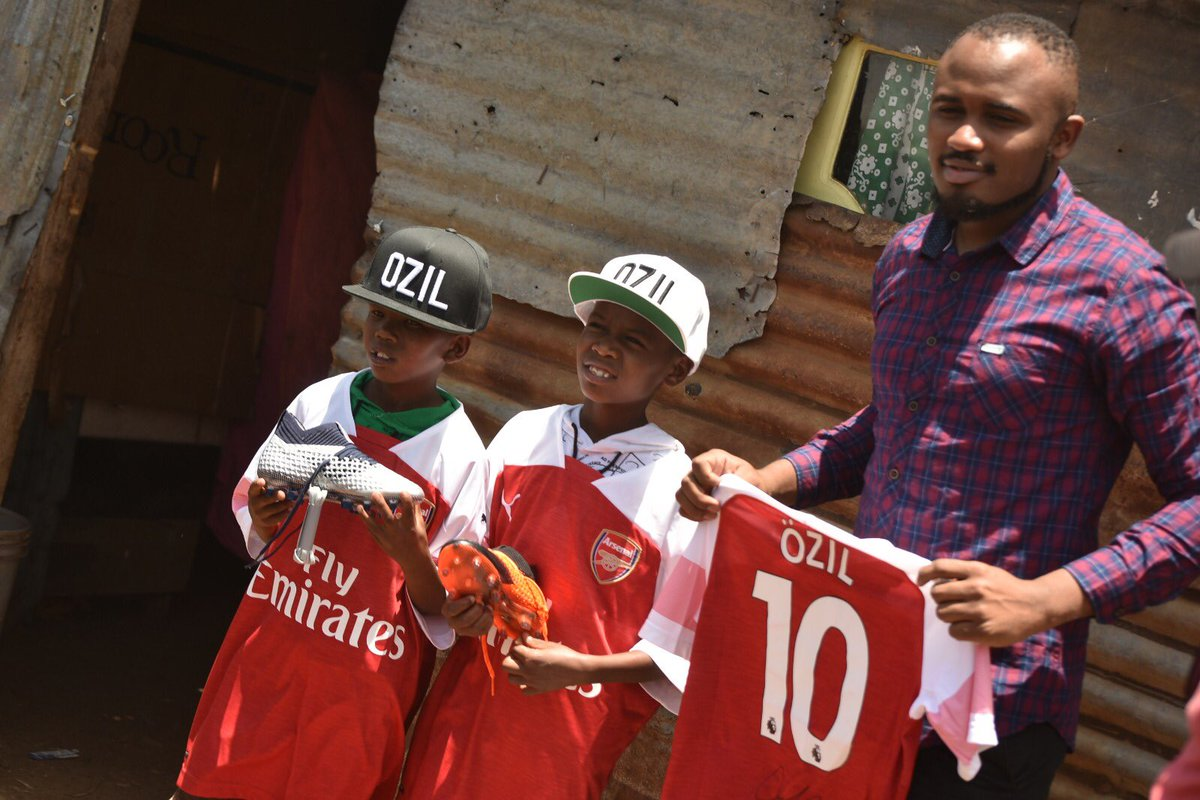 M10 - after @MesutOzil1088's gift to Lawrence in Nairobi, he became a VISA ambassador for AFCON 2019 - what an amazing story! <br>http://pic.twitter.com/BE4bO1mqpi