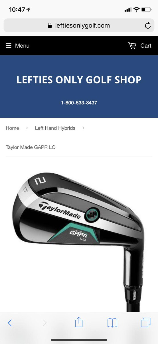 So in honor of #NationalLeftHandersDay earlier this week my husband ordered a #lefthanded golf club from http://leftiesonlygolf.com . It arrived quickly...but was a #righthanded club. On the plus side, the guy was very apologetic and we both got a good laugh. #itshardbeinglefty