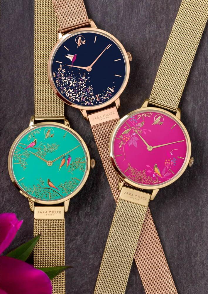 イギリス発「サラミラーロンドン」の腕時計、東京・千葉・大阪の限定ストアで販売 - 花や鳥を描いた色鮮やかな文字盤  -