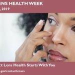 Image for the Tweet beginning: Contact Lens Health Week is