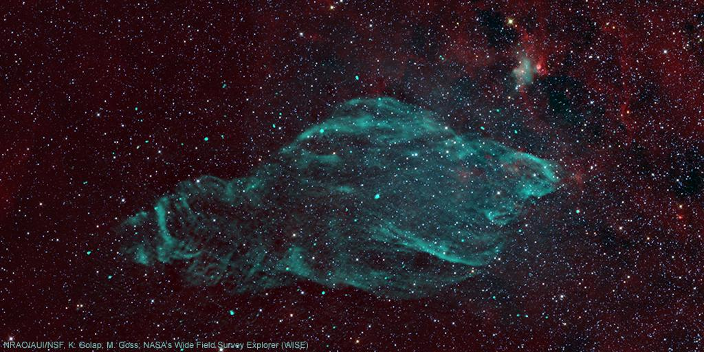 Right #now Chandra is studying the effects of a microquasar on supernova remnant W50, informally called the #Manatee Nebula! About 18,000 light years from Earth, the #BlackHole left behind by the supernova explosion feeds on gas it collects from a neighboring companion star.