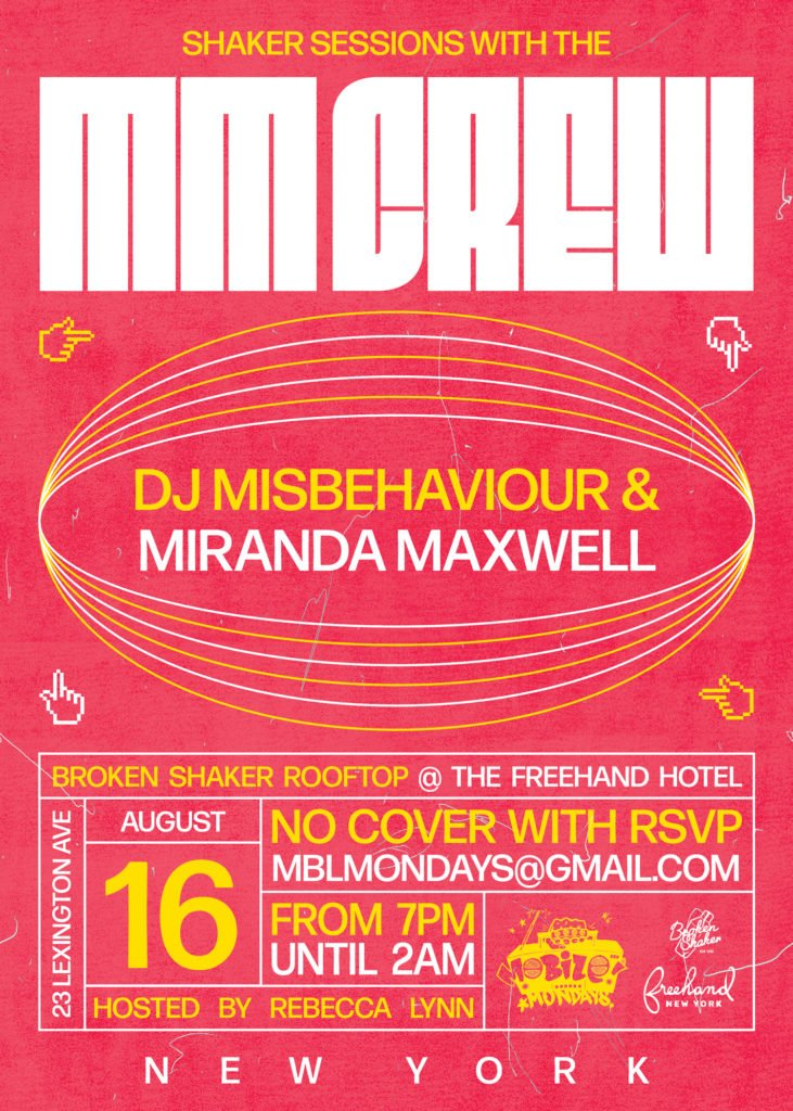 Tonight NYC #ShakerSessions with The Mobile Mondays! Crew, Misbehaviour & Miranda Maxwell @brokenshaker  #MobileMondays #DJMisbehaviour #MirandaMaxwell #BrokenShaker @mobilemondays @djmisbehaviour @djmirandom