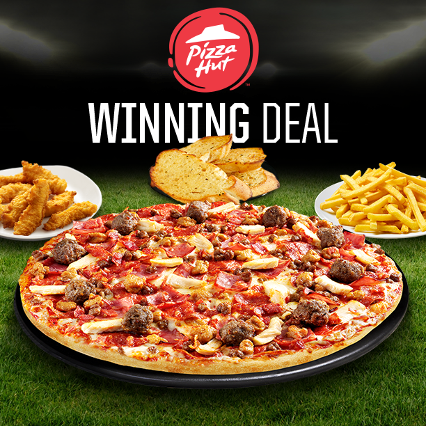 Anyone else excited the football is back? Our Winning Deal is the perfect meal for all occasions this weekend as you'll receive a large pizza, crispy fries, garlic bread and crispy chicken strips!! ⚽️ #weekends https://t.co/zfaF1N9vVn