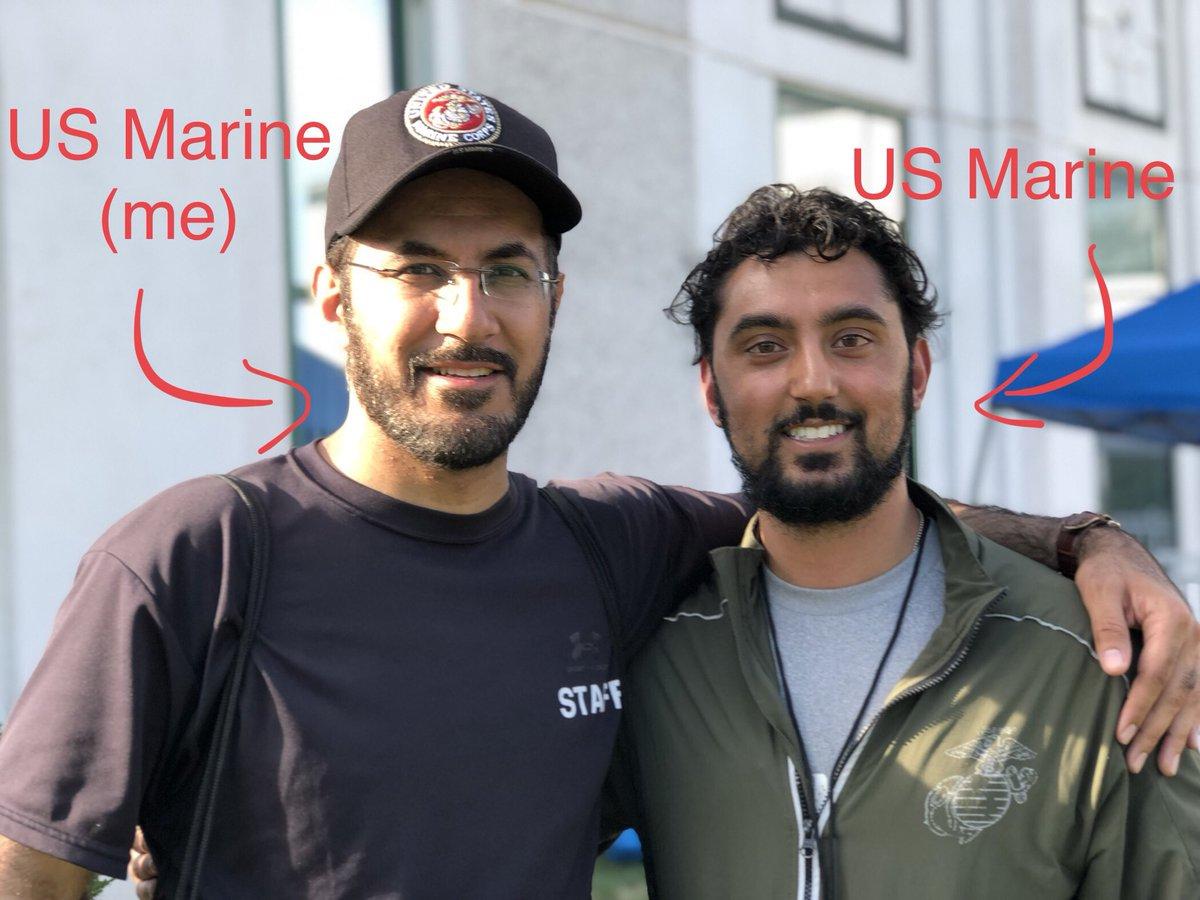 Both MUSLIMS, both AMERICANS, both US MARINES! #FridayFeeling <br>http://pic.twitter.com/zEMuBWxvrT