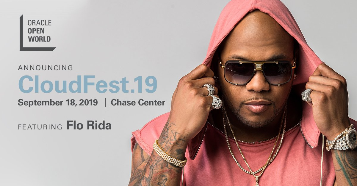 We've got a *good feeling* about this… Welcome Flo Rida to the CloudFest.19 lineup! ow.ly/6Xn550vzw8G @official_flo #OOW19