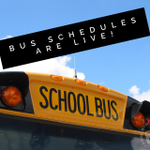 Image for the Tweet beginning: Our 2019-2020 student bus schedules
