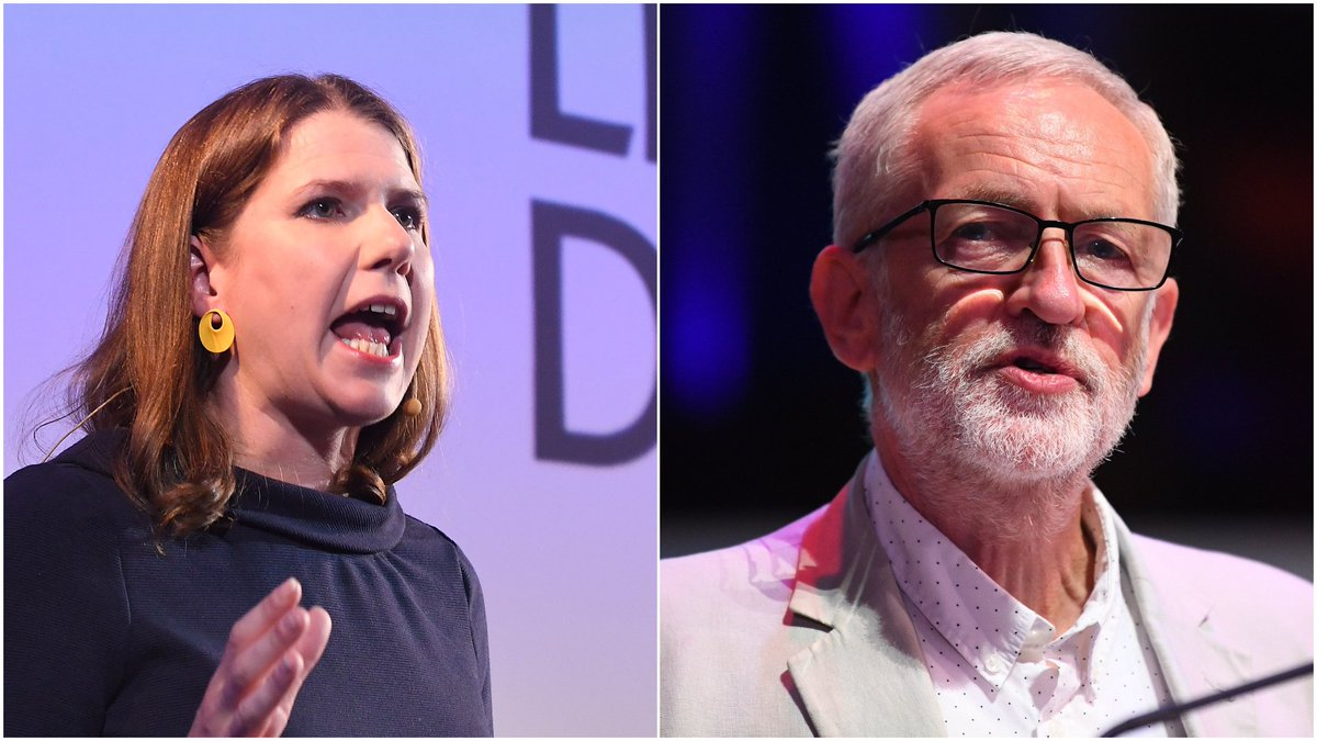Jeremy Corbyn says it's not up to Jo Swinson to decide who is PM amid leadership row itv.com/news/2019-08-1…