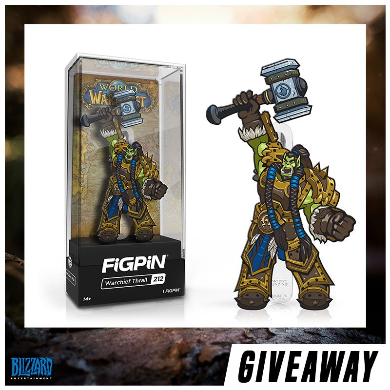 Retweet & follow us for a chance to win the #SDCC2019 Blizzard exclusive @Warcraft Warchief Thrall FiGPiN!  Giveaway will close at 9am PT Mon 8/19. Winner will be randomly chosen, contacted directly, and announced later. Good luck!<br>http://pic.twitter.com/fHZNbzRdXZ