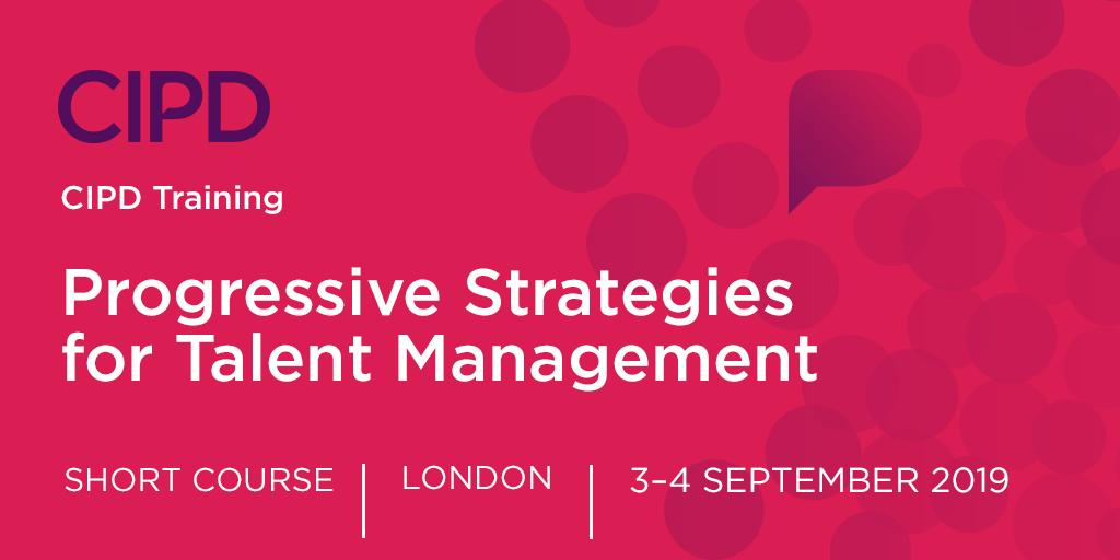 Take advantage of this unique opportunity to upgrade your talent strategies in line with progressive thinking with this two day course. ow.ly/NYl450vzBRy #CIPDTraining