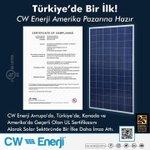 Image for the Tweet beginning: Üyemiz CW Enerji, Amerika ve