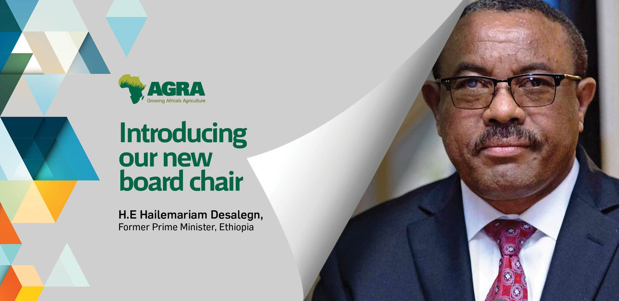 """Mr.Agriculture a Twitter: """"Today, The Alliance for a Green Revolution in  Africa @AGRAAlliance installed the Former Prime Minister of Ethiopia H.E. Hailemariam  Desalegn, as its Board Chairman taking over from Mr. Strive"""