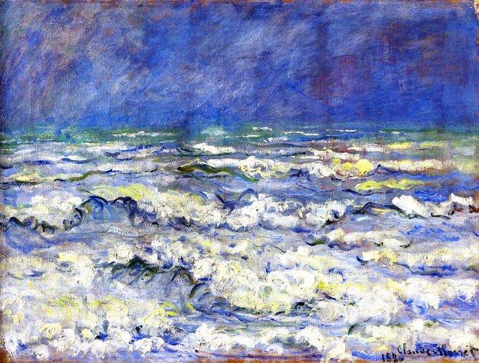 "Claude #MONET, ""OPEN SEA, STORMY WEATHER"" 1880 #ilovemonet #sea #art #arttwit #twitart #iloveart #artlover<br>http://pic.twitter.com/TcfsE0JX4o"