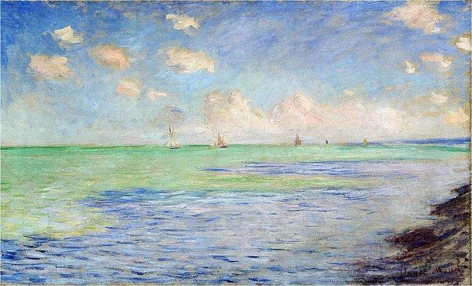 """Claude #MONET, """"THE SEA AT POURVILLE"""" 1882 #ilovemonet #Pourville #art #arttwit #artlover #iloveart <br>http://pic.twitter.com/X5tosm3wq6"""