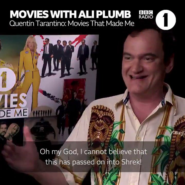 Anyone else play this in their head when theyre walking down the street? DUN DUN DUN You can watch @AliPlumbs interview with Quentin Tarantino here 👉 bbc.in/2z1C3QQ