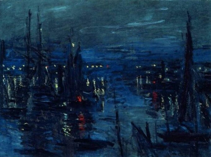 "Claude #MONET, ""THE PORT OF LE HAVRE NIGHT EFFECT"" 1866 #ilovemonet #art #arttwit #twitart #iloveart #artlover<br>http://pic.twitter.com/bJmj7wVup1"