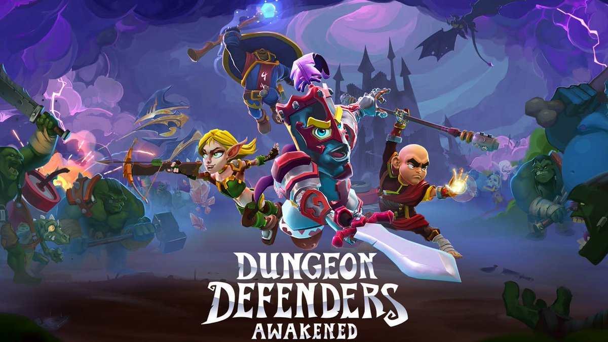 Join forces with up to four friends and cooperatively fight off waves of enemy hordes and epic bosses in #DungeonDefenders Awakened, launching first on #NintendoSwitch as a timed console exclusive in Feb. 2020. #IndieWorld