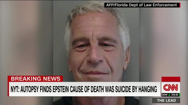 NYT: Autopsy reveals Jeffrey Epstein died by suicide @brynnCNN cnn.it/2MnLRNW