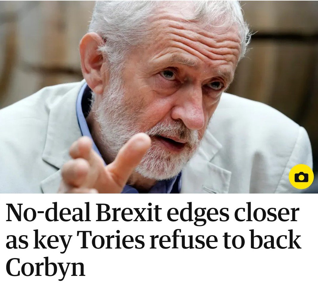 """Corbyn's stance is now, in effect: """"Make me Prime Minister or I'll let financially vulnerable families suffer the consequences of No Deal."""""""