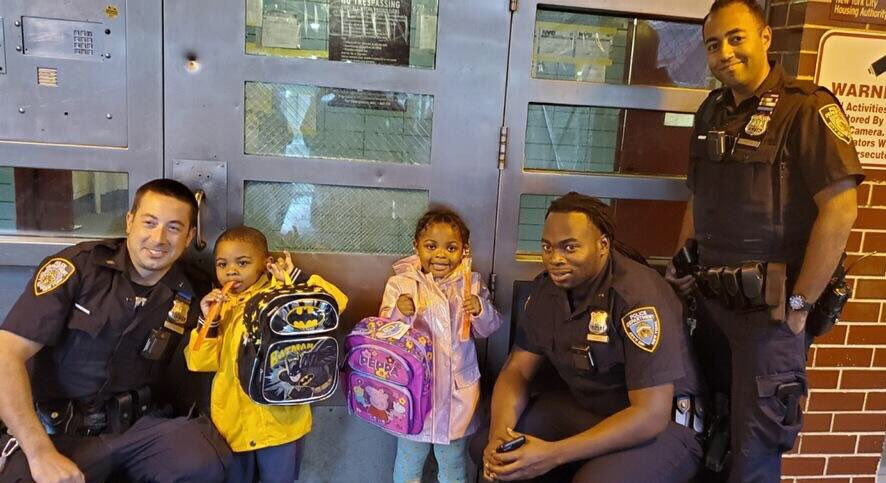 Countdown to the 1st day of school: 18 days❗️  These kids enjoyed the backpack giveaway organized by officers from @NYPDPSA1 and local community members. Batman and Peppa Pig were fan favorites this year. And ice pops are always a PLUS!