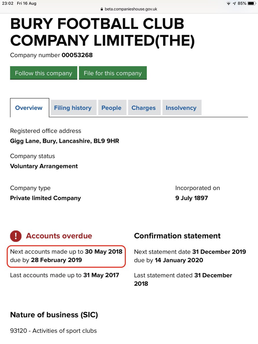 @RickLally Fair comment and I'm guilty on this one for reading too much into the document. The accounts were due for publication months ago but SD2 has chosen not to produce them. Until we can see the numbers have to rely on what's been sent to Companies House