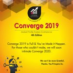 Image for the Tweet beginning: Converge 2019 is Full &