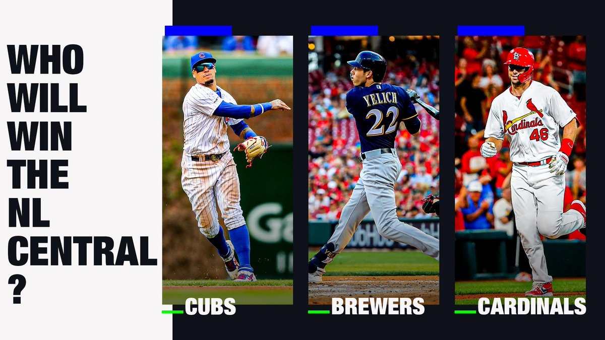 Three teams. One game separating them. The NL Central is real wild.