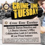Image for the Tweet beginning: #CrimeTimeTuesday #LASD Homicide investigated shooting