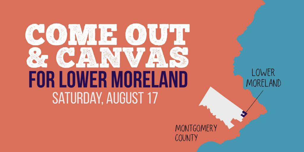 We'll be out canvassing for Lower Moreland in Montgomery County tomorrow at 11am! mobilize.us/turnpablue/