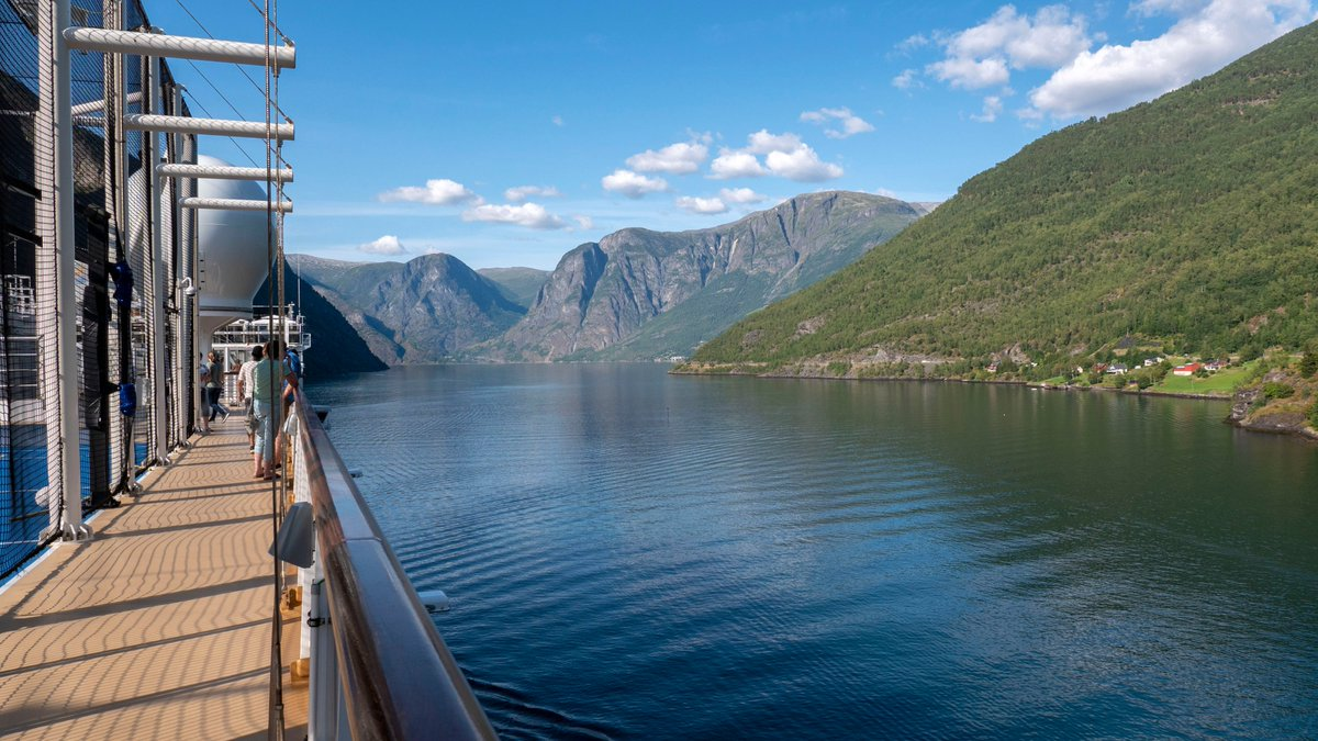 One of our favorite things about cruising in Norway was sailing through the fjords. On @HALcruises Nieuw Statendam, we cruised through the Sognefjord, the largest and deepest fjord in Norway. Learn more >> bit.ly/2YVSNZn #HollandAmerica #HALCruises