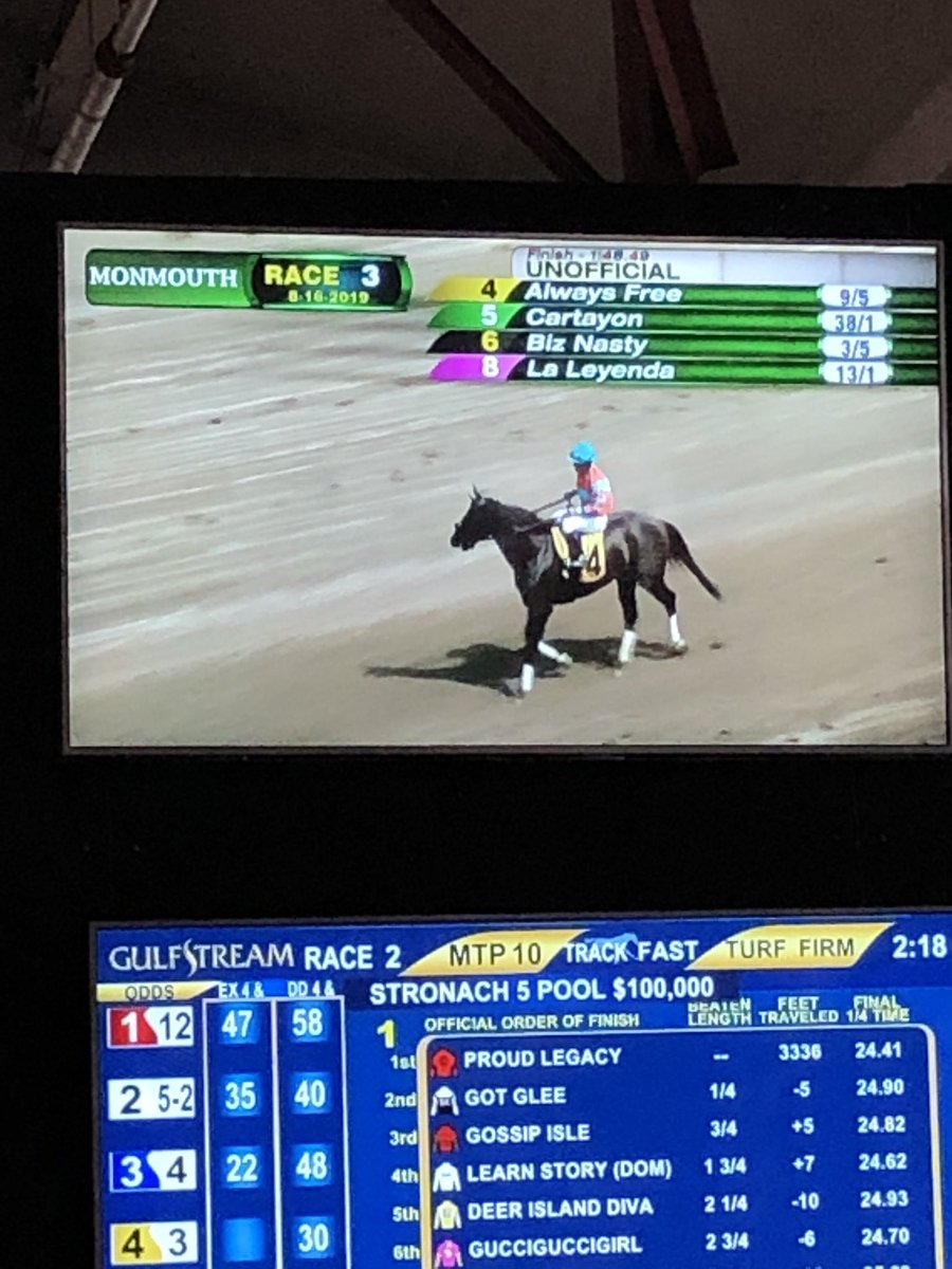 Boxed out in the stretch and murdered my exacta.
