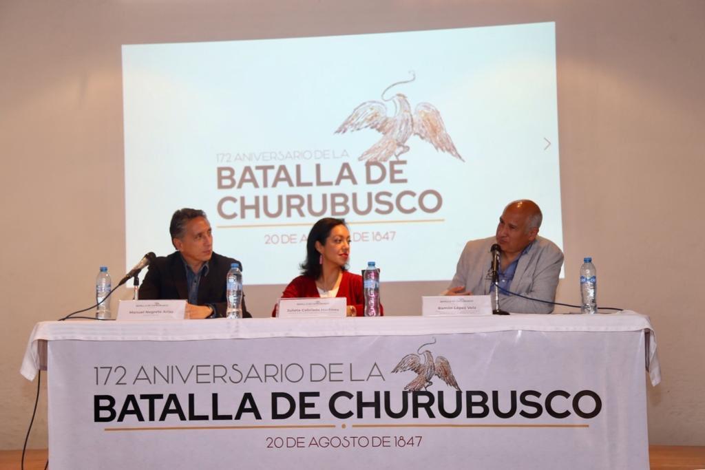 Nos sumamos a la conmemoración del 172 aniversario de la Batalla de Churubusco para rendir homenaje a los defensores de esta gesta heróica.La @Alcaldia_Coy participará junto al @MIntervenciones y la @CulturaCiudadMx en la cabalgata y ceremonia cívica del próximo 20 de agosto.