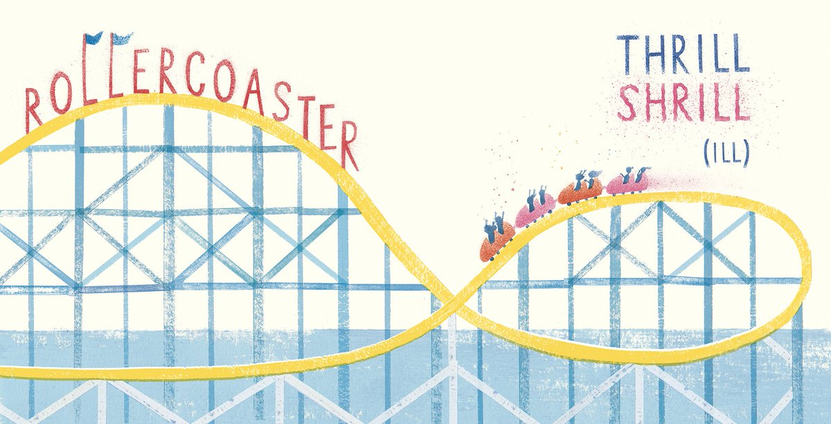 Just discovered its #NationalRollerCoasterDay Id been trying to get a roller coaster in a book for a while, before finding the perfect opportunity in HELLO! : ) This one is inspired by the old rattling wooden rides at Dreamland Margate and Coney Island NY.