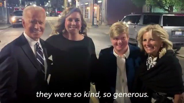 It was great meeting our previous contest winners, Kellie and her wife Amanda, after last month's Democratic debate.  Enter now for your chance to join us for the next debate in Houston: https://t.co/hgKmqF00yn https://t.co/BK6mCgFjkR