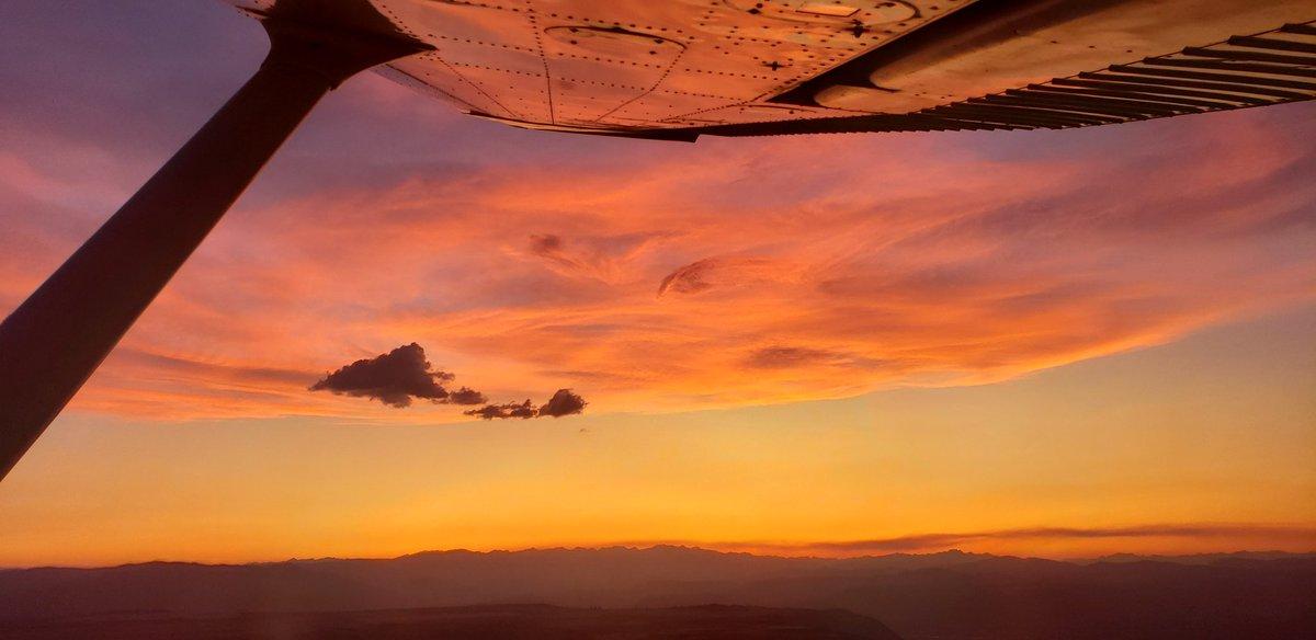 #wingfriday a sunset flight last week