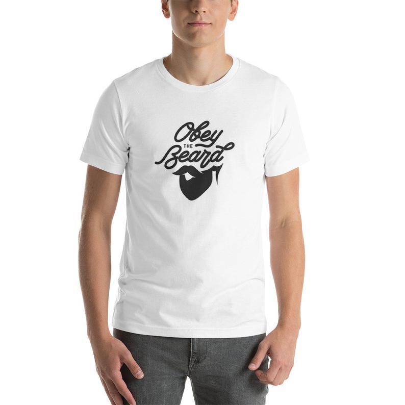 "Hot Trendy Urban Summer ""Obey the Beard"" Short-Sleeve Unisex T-Shirt"