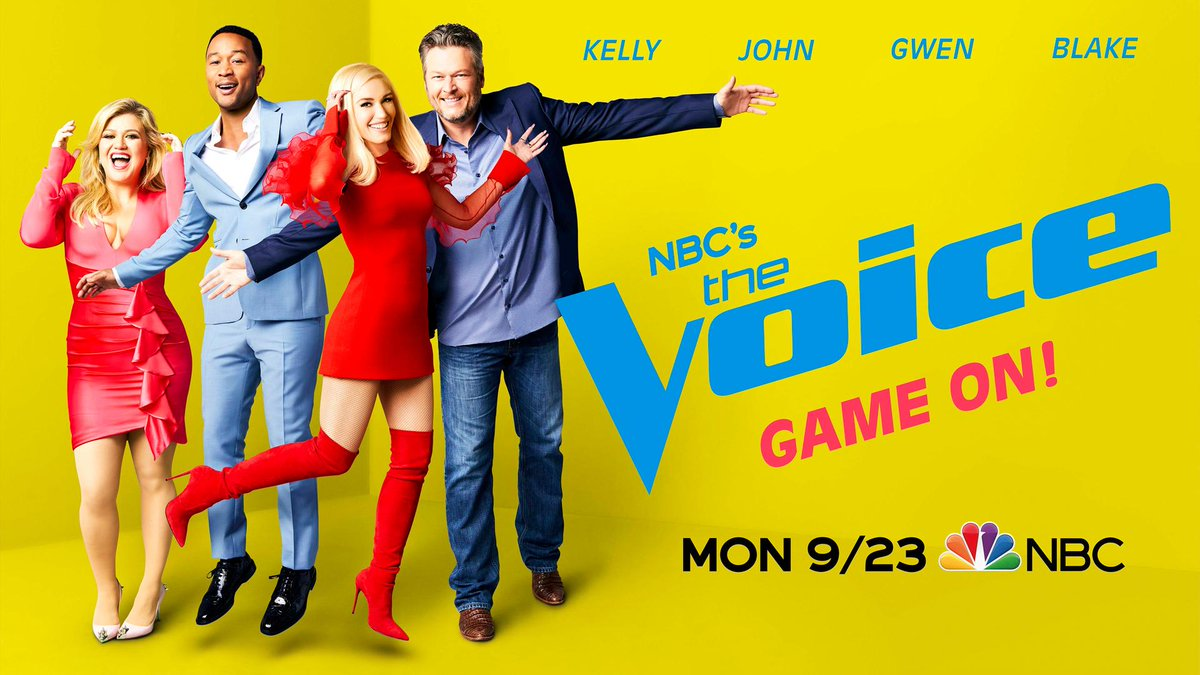 THESE FOUR.    #TheVoice returns with @kellyclarkson, @johnlegend, @gwenstefani, and @blakeshelton on September 23.  <br>http://pic.twitter.com/BMr87iiYJ1