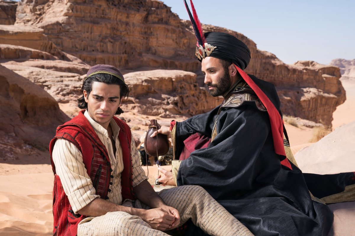 """""""You see, I was once like you.  A common thief Only I thought bigger.   Steal an apple, and you're a thief  Steal a kingdom, and you're a statesman.""""  #Aladdin2019 <br>http://pic.twitter.com/QM9eP7eciq"""