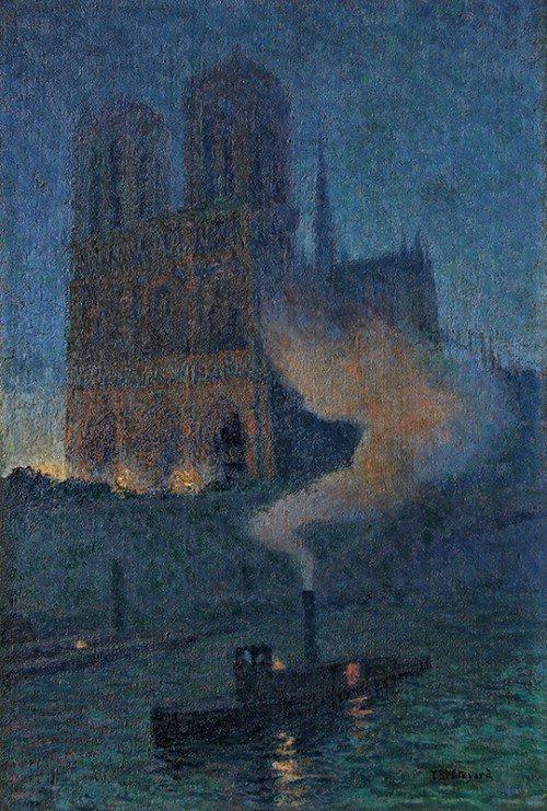 "Thomas Buford Meteyard, ""Notre Dame la nuit""  #art #NotreDame #Paris  #HappyFriday @AlessandroForn6<br>http://pic.twitter.com/4ehAYUOyu3"