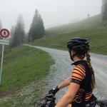 This was one of the rides from our week in Switzerland. We were at around 6000ft altitude and still not at the start of the downhill track. You can just about see the hut through the fog! #TorqFuelled #UnBonkable #Switzerland #Lenzerheide #mountain #mtb #xc #downhill