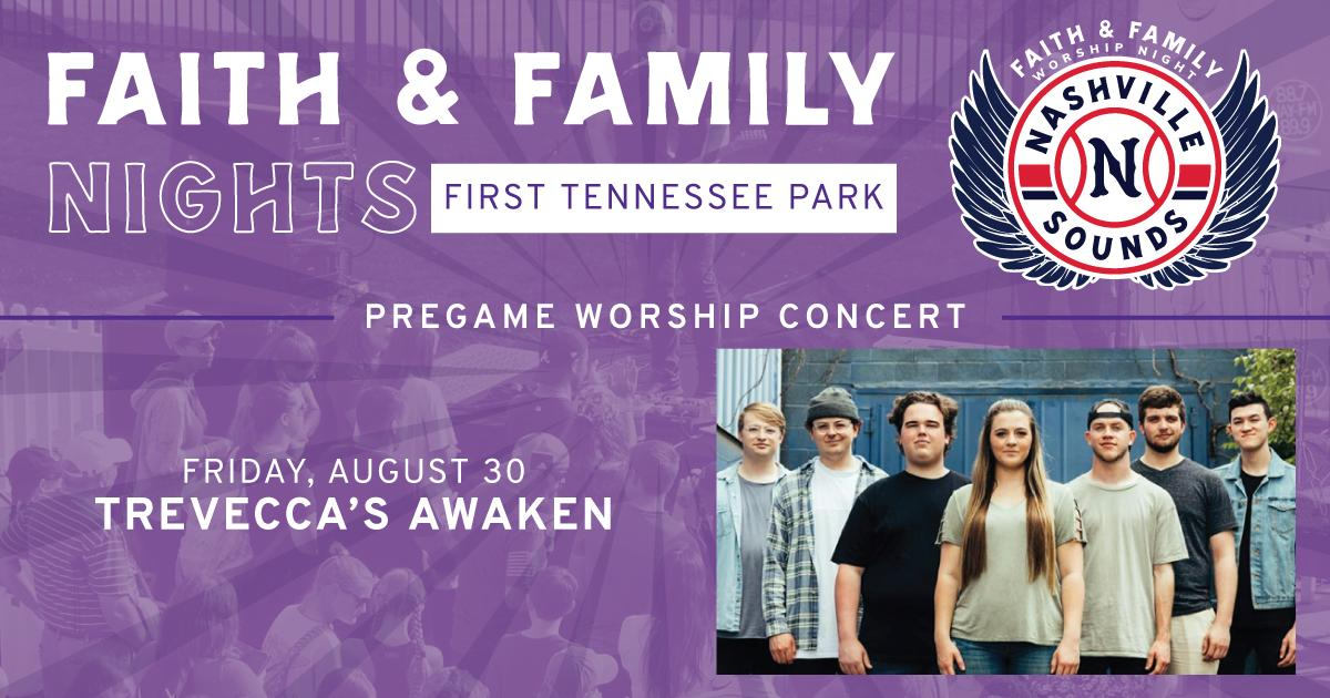 Join us on August 30 for our last Faith & Family Night of the season! The night features a pregame concert from @Treveccas Awaken, testimonial from a Sounds player and then an evening of baseball: atmilb.com/2vlZu5D