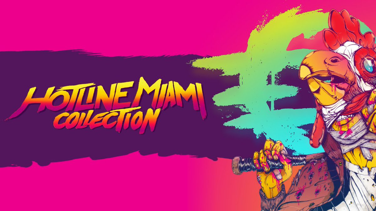 The Hotline Miami Collection includes both brutally-challenging and neon-soaked Hotline Miami games and is available TODAY on #NintendoSwitch #eShop! #IndieWorld 🐔 bit.ly/2z4vqxg