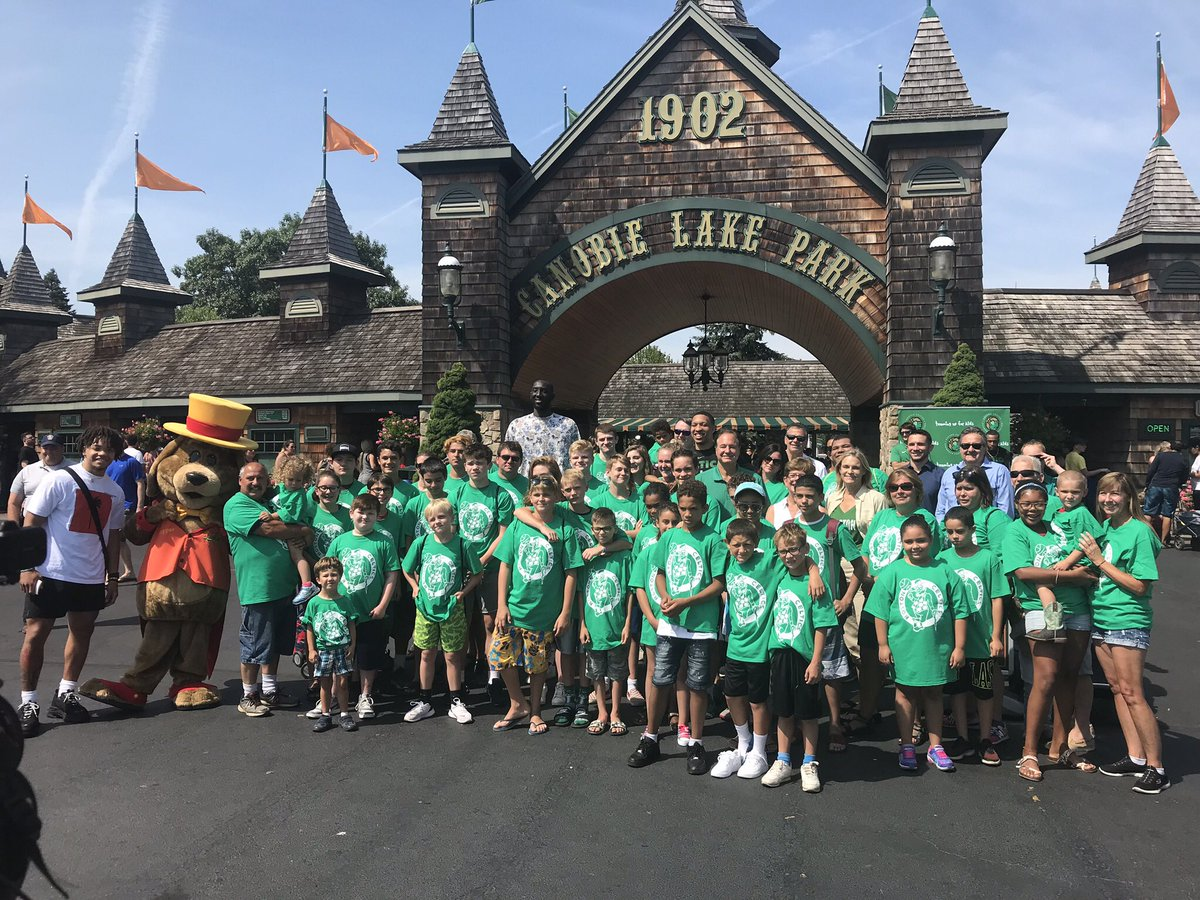 The kids of MSPCC had a wonderful time at @CanobieLakePark today with @celtics players @tackofall99 @Grant2Will @Cboogie_3. Thank you to the Shamrock Foundation for making today possible!