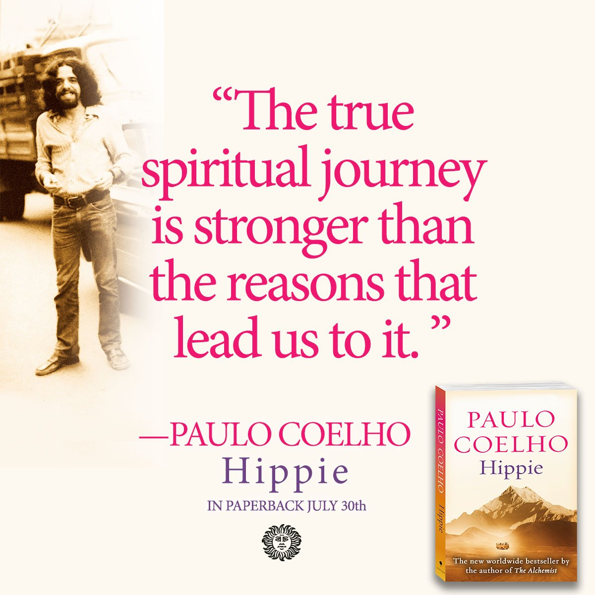 HIPPIE by @paulocoelho is out now in paperback—the perfect read for this years 50th Anniversary of Woodstock! #TheSummerOfLove ow.ly/KZwM50vyGbk