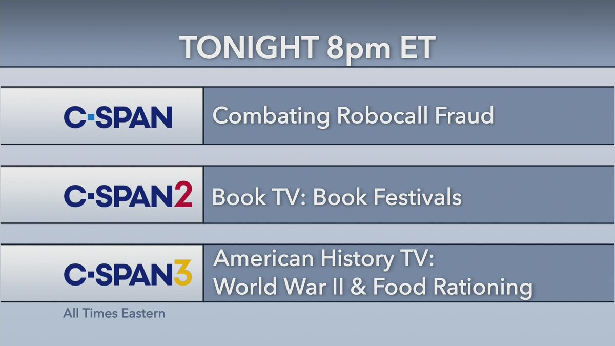 Starting shortly on C-SPAN networks.