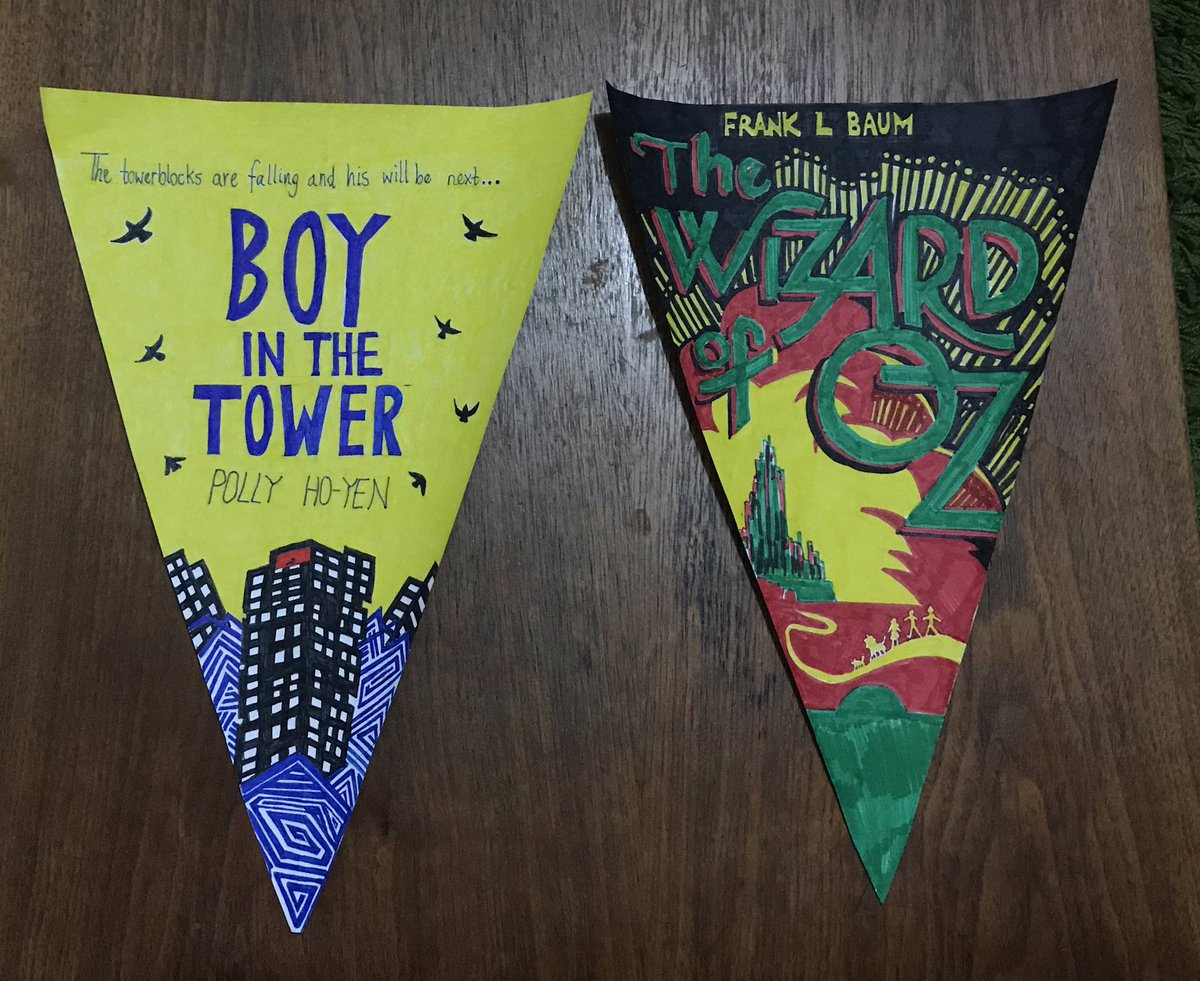 Loving making these for my class bunting! @bookhorse @ThomasHTaylor