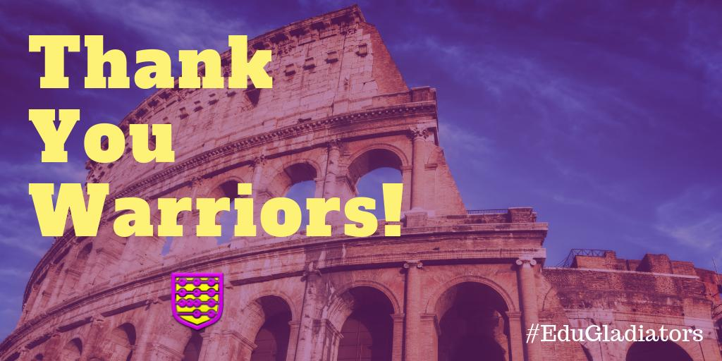 Thank you warriors for another fantastic chat! #EduGladiators